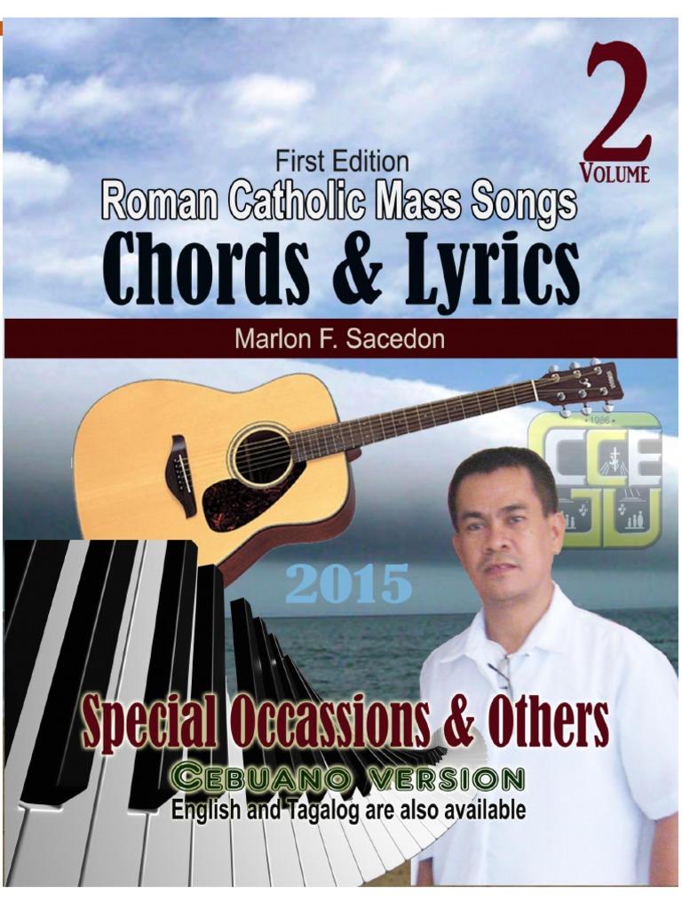 Roman Catholic Mass Songs Chords Lyrics Vol 2