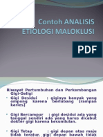 2015 Contoh Analisis Etiologi Maloklusi