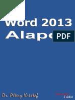 Word 2013 Alapok
