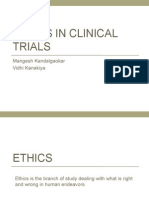 Ethics in clinicaltrials