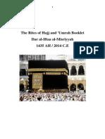 Hajj Booklet PDF