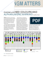 Harmonised Colours and Alphanumeric Marking