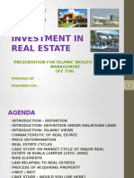 Investment in real estate property