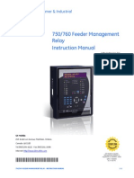 750 Multilin Feeder Management Relay Manual