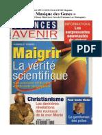1st April 1995  SCIENCES et AVENIR Magazine «La Musique des Genes»    (avec l'avis du Professeur Luc Montagnier)