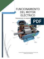 funcionamiento del motor eléctrico y rodamientos