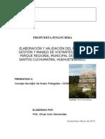 Propuesta Financiera de Consultorìa para PGMV Todos Santos