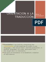 Orientacion a La Traducción