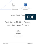Sustainable Building Design with Autodesk Ecotec