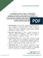 Candidatura del Partido Andalucista a Alcaldía de La Línea