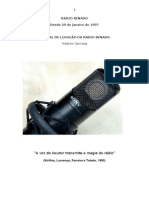 SPINOZA, Manual de Locução Rádio Senado