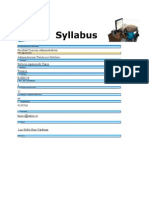 Sillabus Servicio Agencia de Viajes