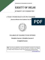Fyup Chemistry syllabus
