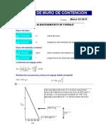 Ejemplo de Analisis Estructural de Muro de Contención Con Dos Cargas Concentradas
