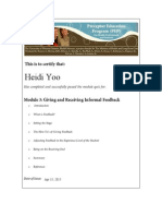 m3-giving-and-receiving-informal-feedback 2015 04 15