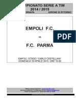 Empoli-Parma - 31° giornata serie A