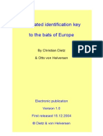 Ilustrated Key for the Bats of Europe