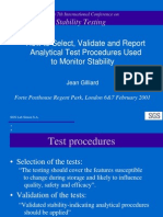 Analytical Test Procedures