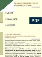 2013 - Clase Contingencias y Prestaciones Por Vejez