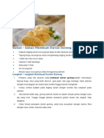Cara Membuat Durian Goreng