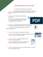 Aplicaciones de Google y Sus Funciones