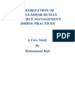 Theorization of Bangladesh HRM
