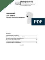 Informe Situacion Sociodemografica San Alberto