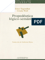 Propedeutica Logico Semantica