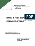 FORMACION DE TUTORES MATEMATICOS