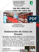 Elaboracion de Salsa de Tomate Pelado Al Vapor