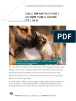 Exchange Public infrastructure | Public versus non-Public facing Exchange site | 5#23