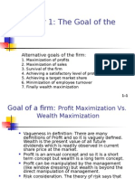 1. Goal of the firm