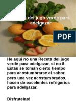 recetas de jugos naturales para bajar de peso