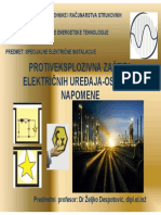 Protiveksplozivna Zastita Elektricnih Uredjaja-osnove
