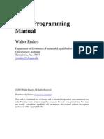 RATS Programming Manual W Enders