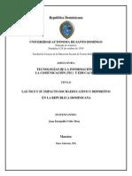 Impacto de las Tics en el ámbito socio-educativo y deportivo de la República Dominicana.