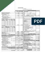 Twin Pines Balance Sheet