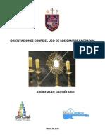 Orientaciones Sobre Los Cantos en La Diocesis de Queretaro