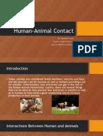 human-animal contact