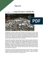 Sungai Ciliwung Tercemar Limbah B3