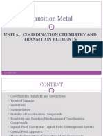 Transition Metals 2010 Unit 5 Chy4006