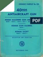 40mm Antiaircraft Gun Mk I