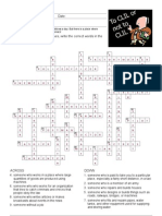 Jobs Crossword (Key)
