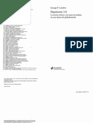 LANDOW, G , Hipertexto 3 0 (1)