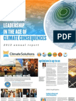 Climate Solutions annual report, 2013