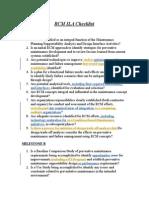 RCM ILA Checklist