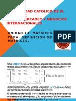 Tema. Definicion de Matrices