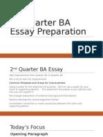 argumentative essay preperation