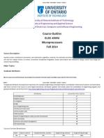 Course Outline - ELEE 4350U - Fall 2014(1)