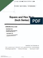 Norma para Tuercas Hexagonales y Cuadradas (Inch Series)ASME-ANSI B18.2.2-1987